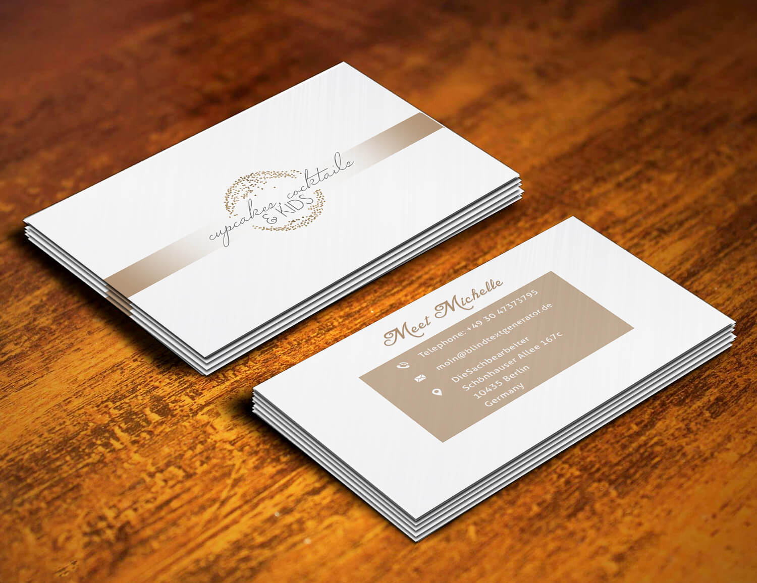 Cakes Business card design – Web Graphic Designs