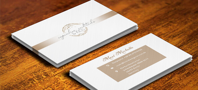 Cakes Business card design