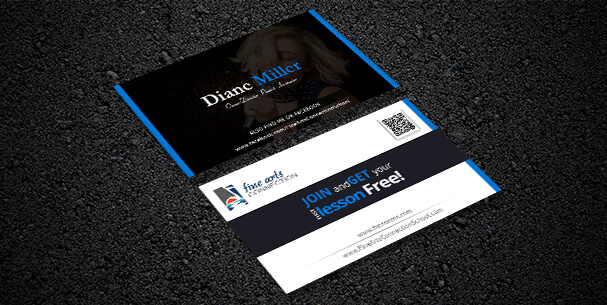 Fine Art Business Card design
