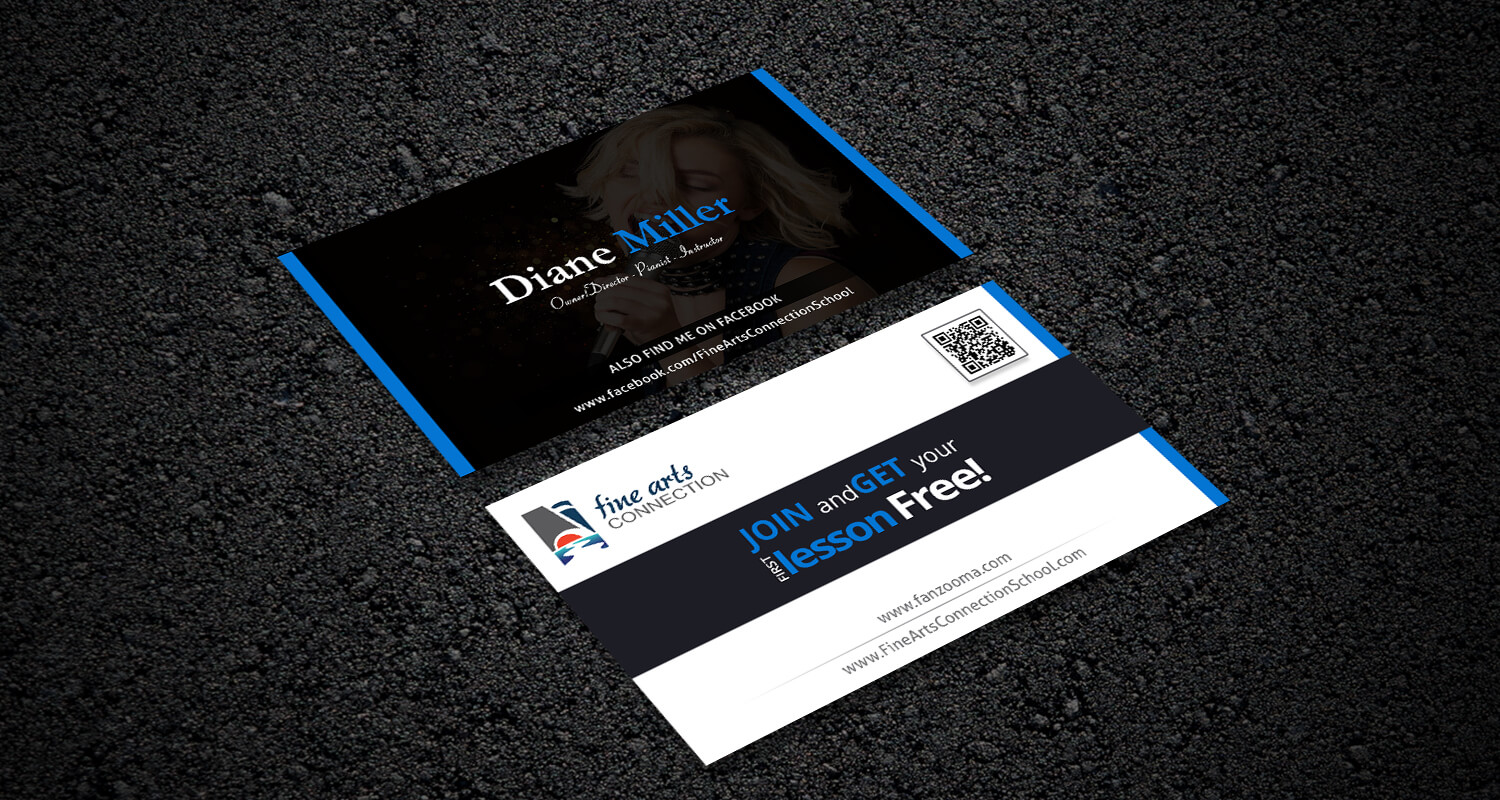 Fine Art Business Card design – Web Graphic Designs