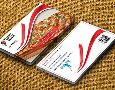 Jet's Pizza Business Card Design