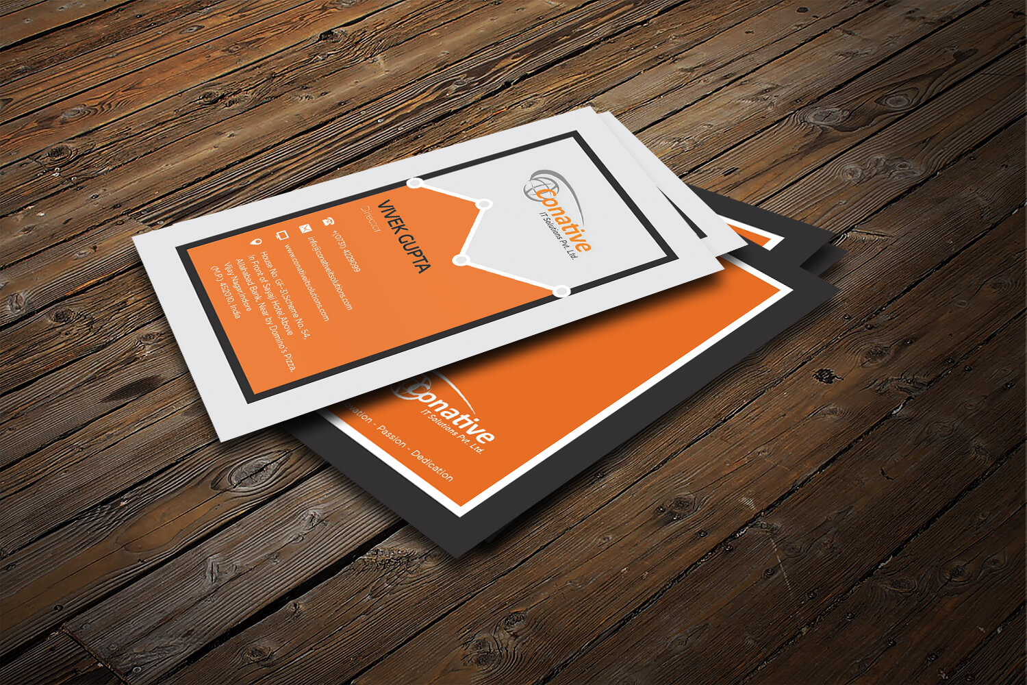 Conative IT Solutions Business Card Design