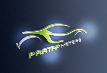 Pratap Motors Logo Design