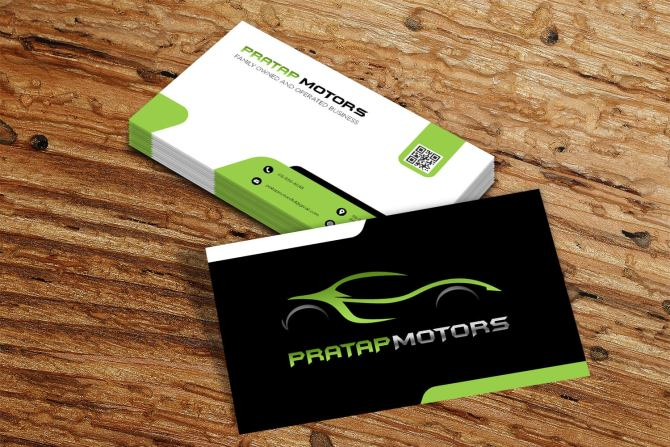 Pratap Motors Business Card Design