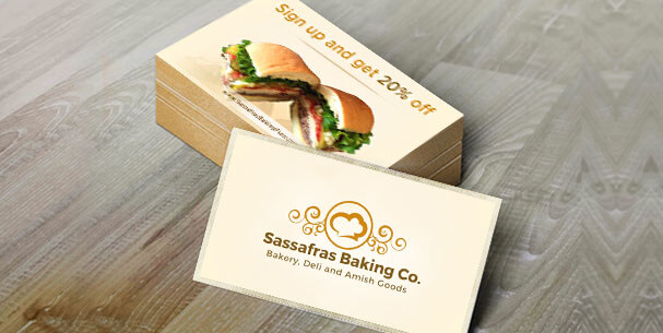 sassafras Business Card Design